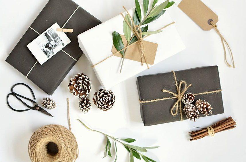idee per pacchetti regalo di natale stile boho diventare mamma. Black Bedroom Furniture Sets. Home Design Ideas