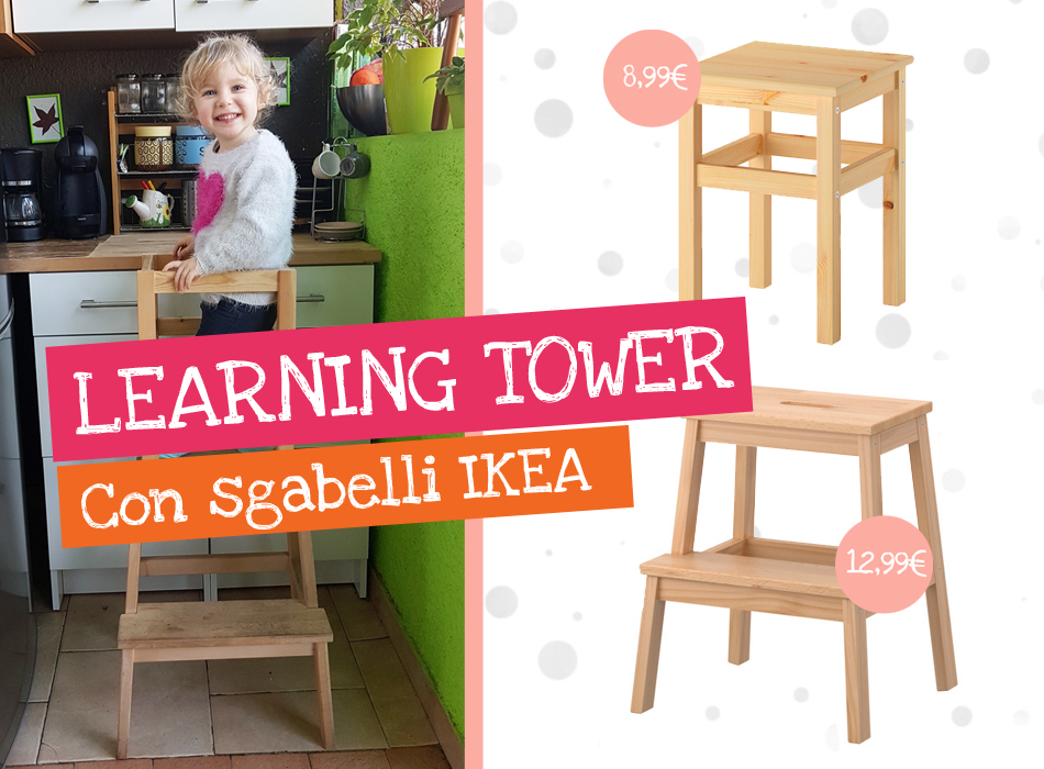 Come creare una learning tower con sgabelli ikea for Sgabelli ikea