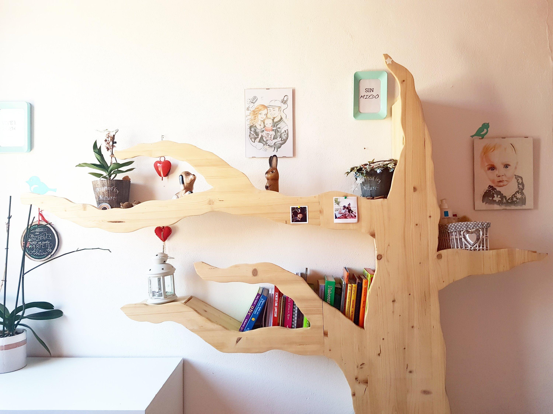 Librerie Per Camerette Bambini liberia albero in legno - ideale per la cameretta dei bimbi
