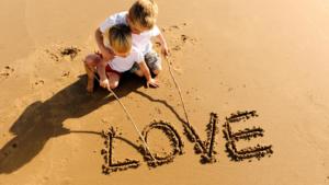 scrivere nella sabbia